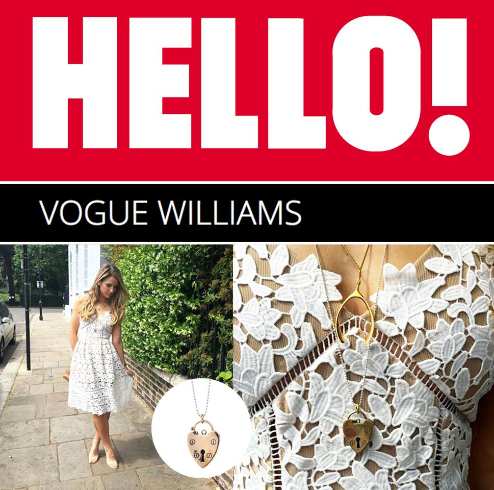 Vogue Williams in Hello!