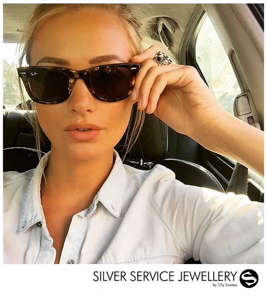 Ianthe Rose wears our Tiger Ring