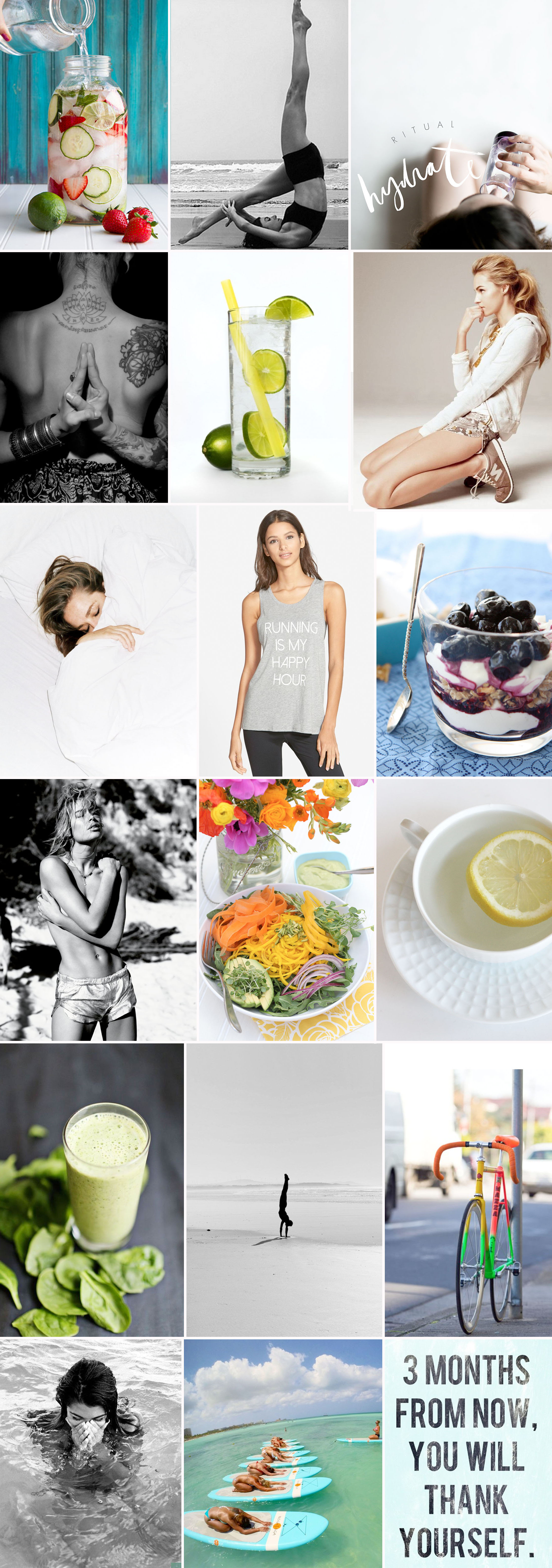 Wellbeing collage