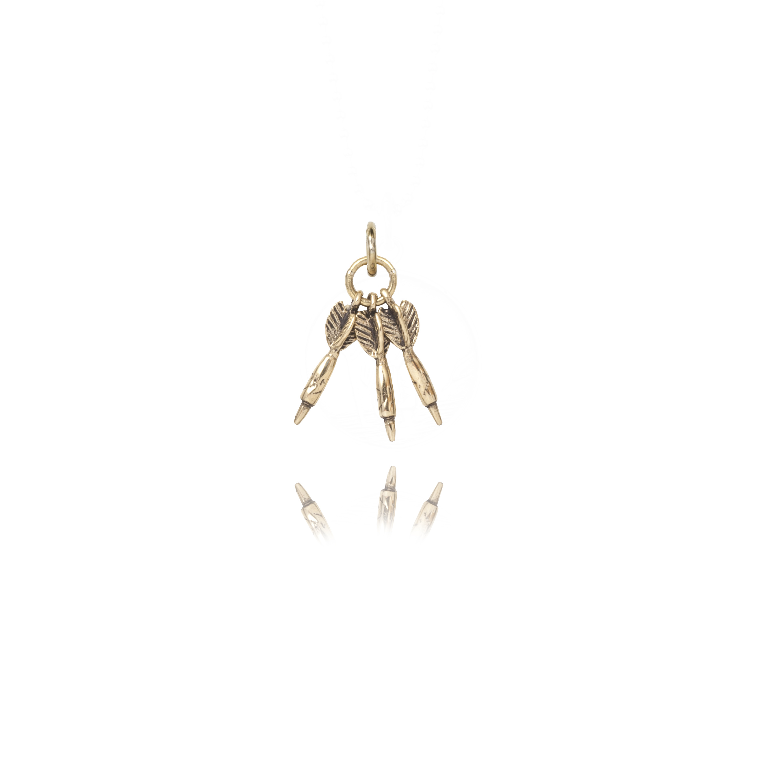 Brass Lucky Darts Charm