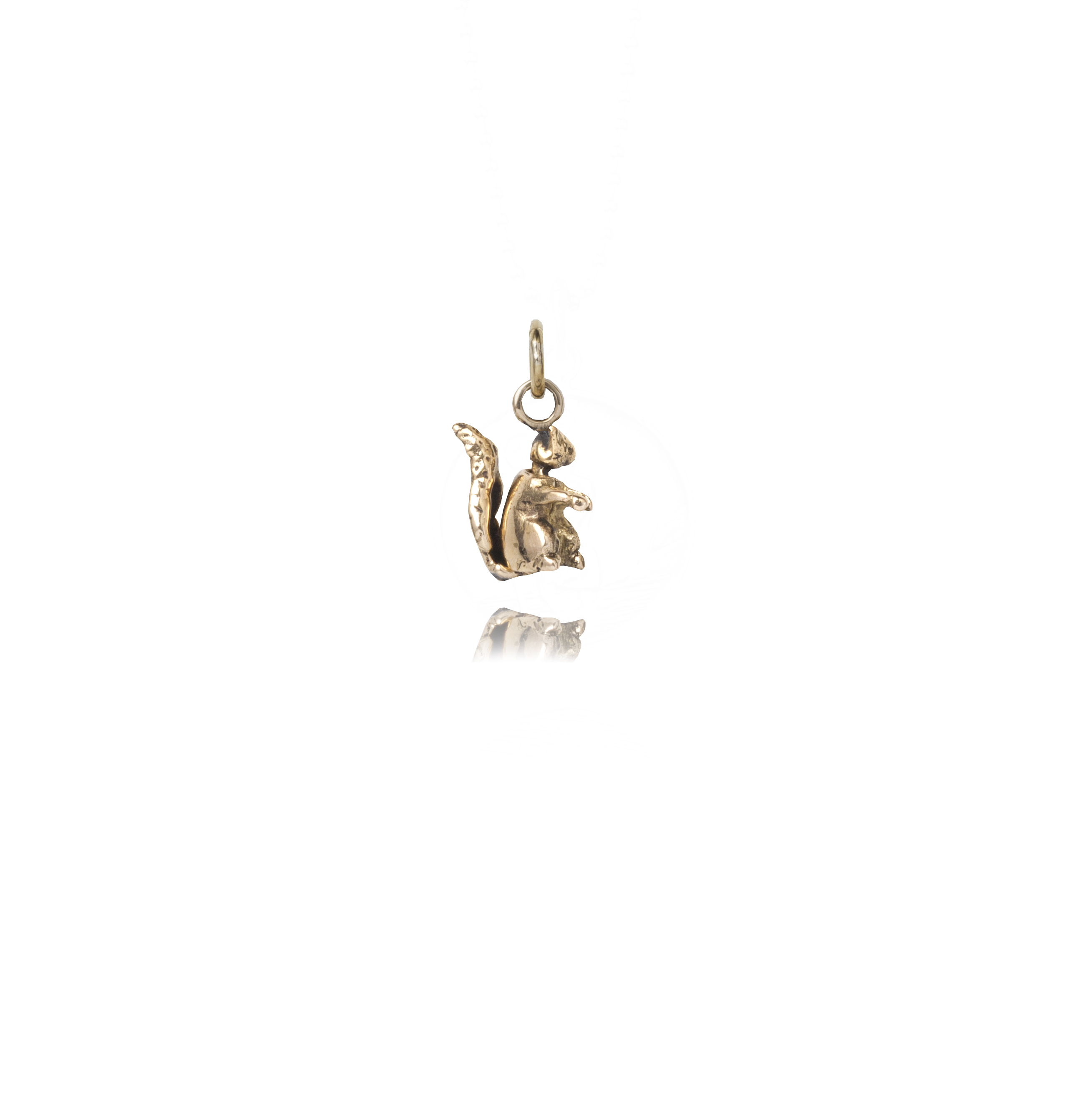 Brass Squirrel Charm