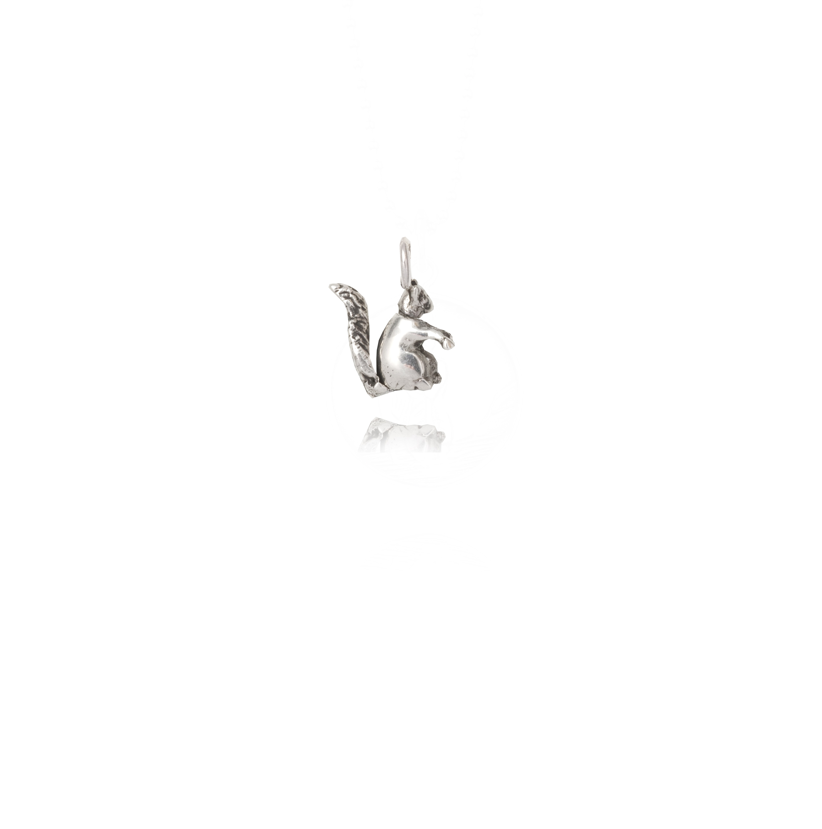 Silver Squirrel Charm