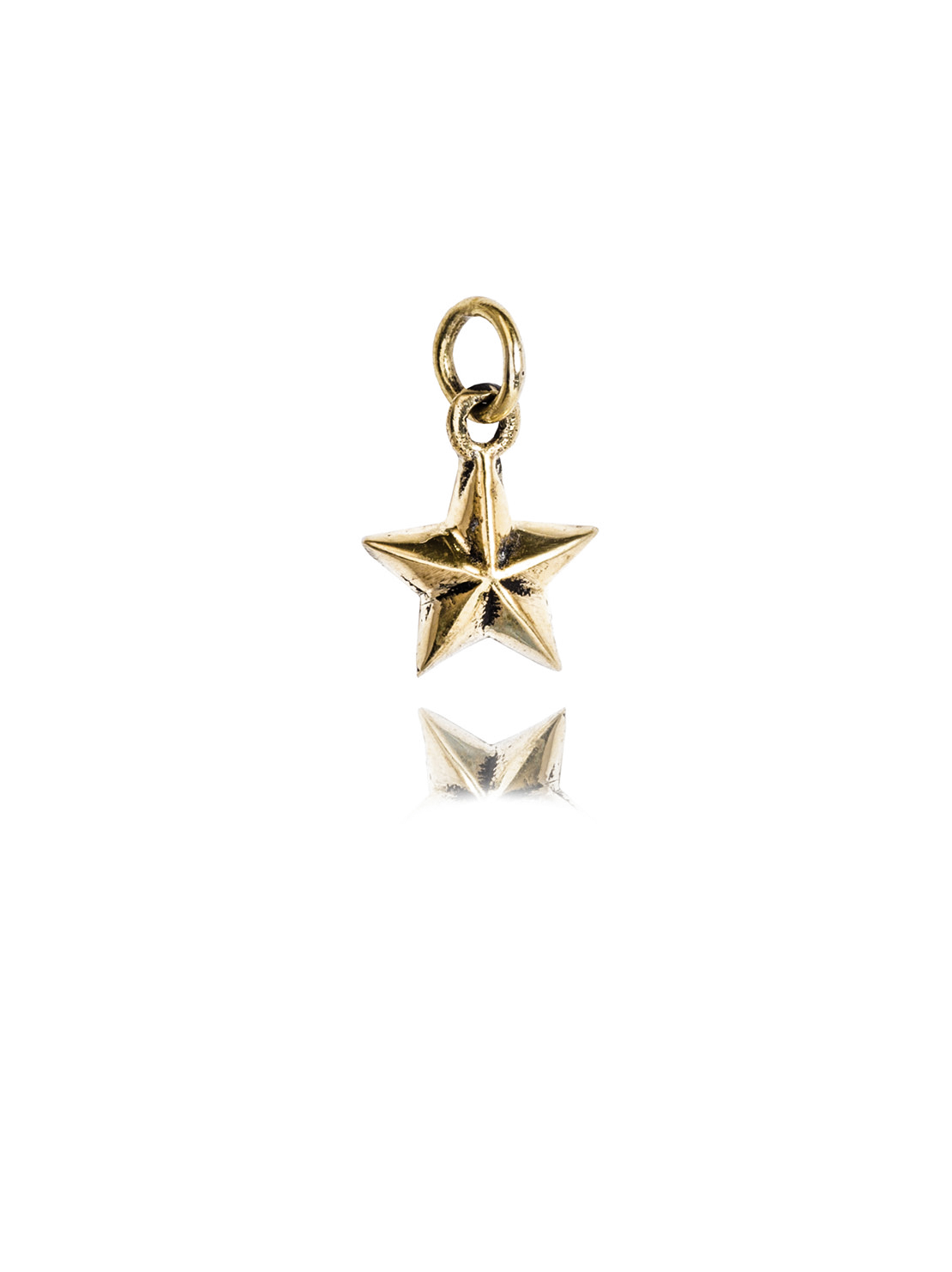 Small Brass Star Charm