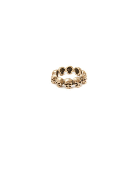 Brass Skull Garland Ring