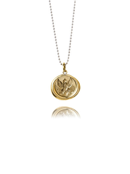 Brass Wax Seal Necklace