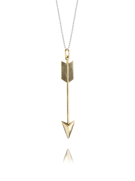 Large Brass Arrow Necklace