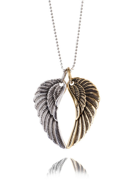 Large Mixed Wing Necklace