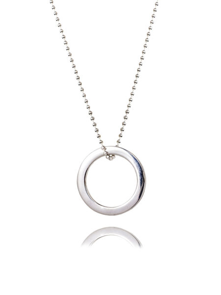 Large Silver Eternity Necklace