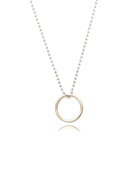 Small Gold Eternity Ring Necklace