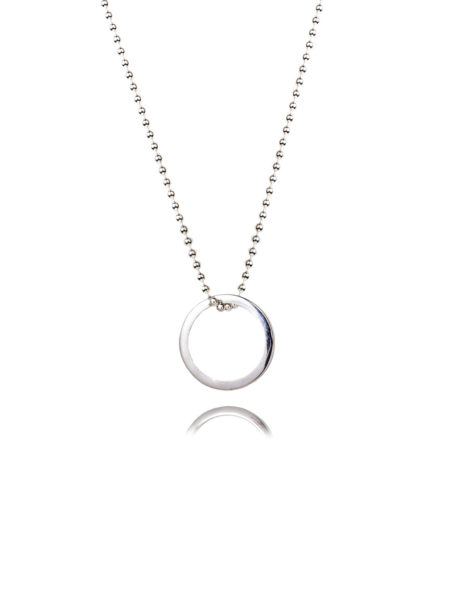 Small Silver Eternity Ring Necklace