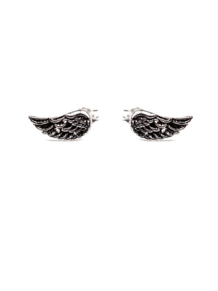 Silver Wing Stud Earrings