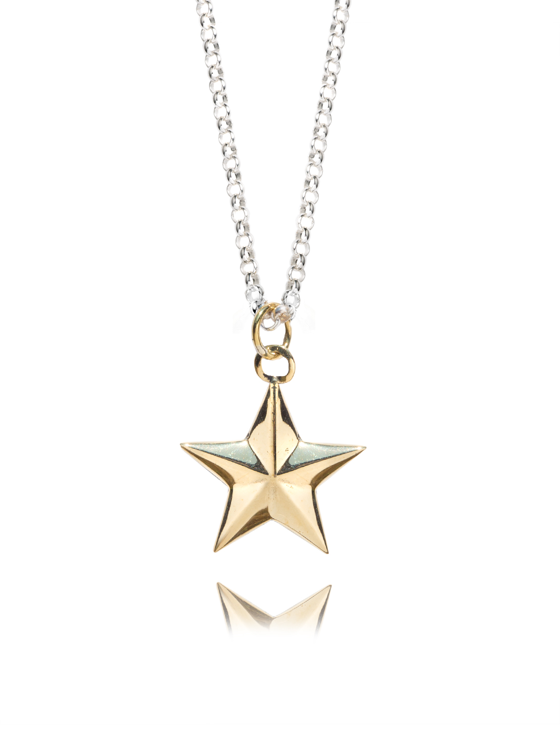 Brass Star On Chunky Chain