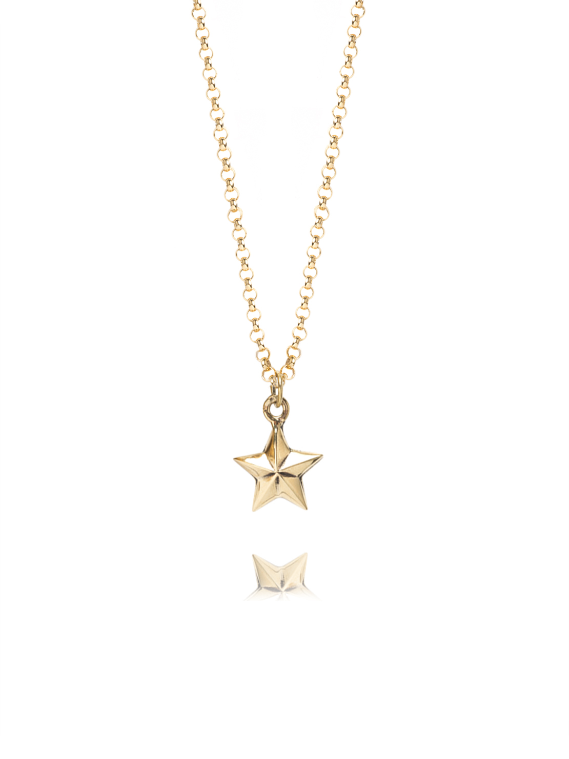 horn gold pendant italian vermeil small necklace
