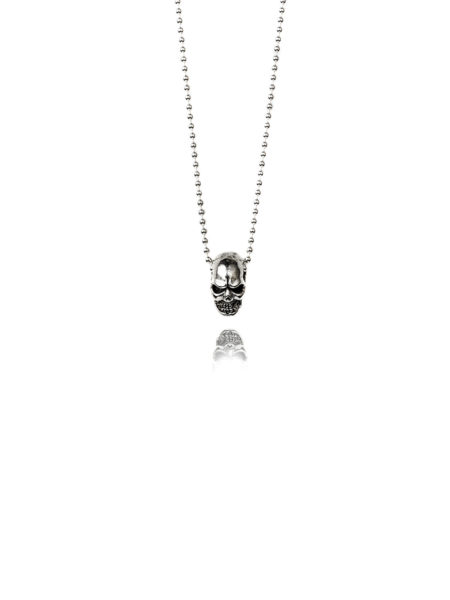 3d Silver Skull Necklace