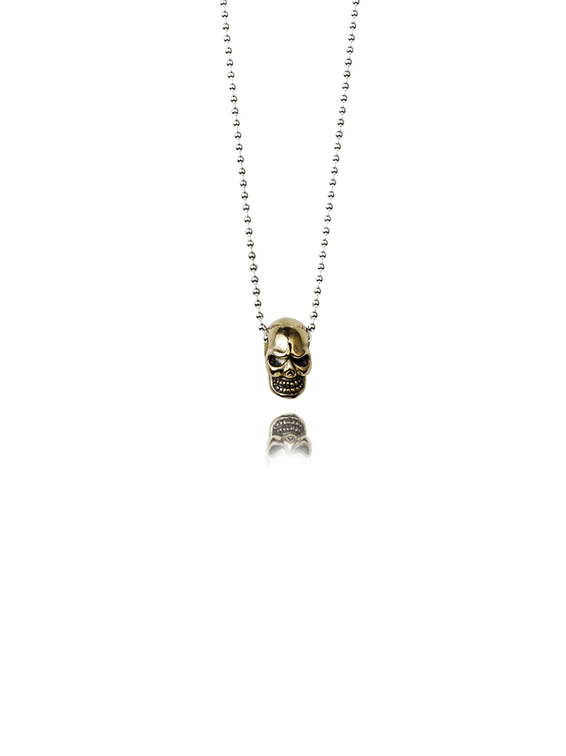 3D Brass Skull Necklace