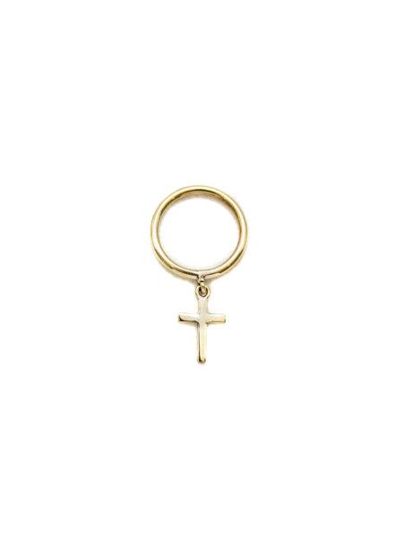 Brass Ring With Brass Cross