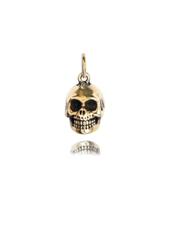 Brass Skull Charm