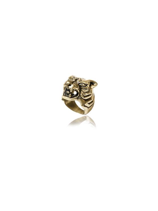 Brass Tiger Ring