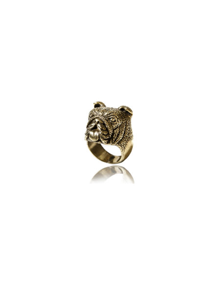 Bulldog Ring- Brass