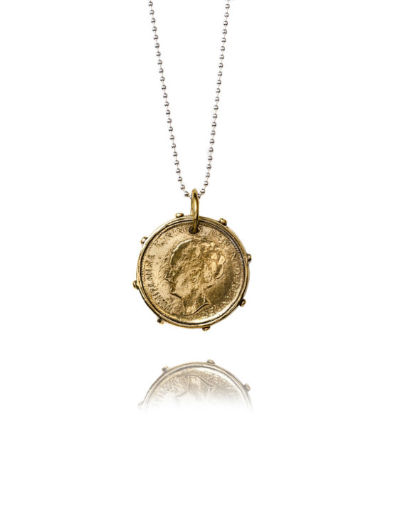 Gold Dutch Coin Necklace