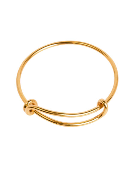 Gold Plated Charm Bangle