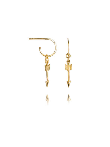 Gold Plated Hoops With Gold Arrows