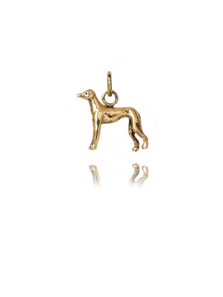 Gold Whippet Charm