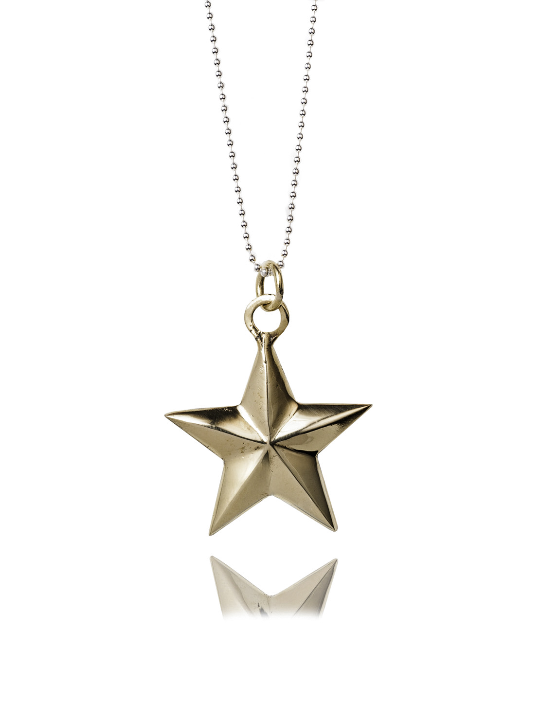 Large Brass Star Necklace