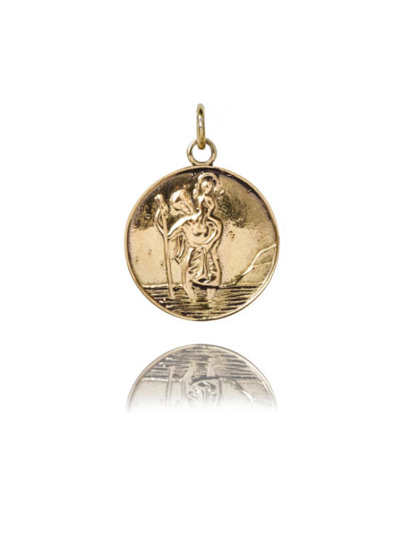 Large Gold St Christopher Charm