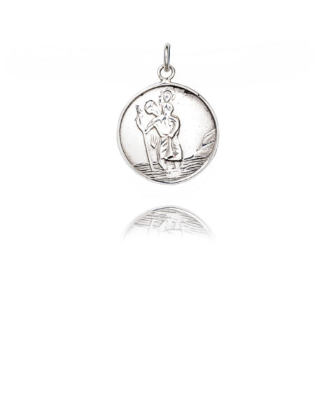 Large Silver St Christopher Charm