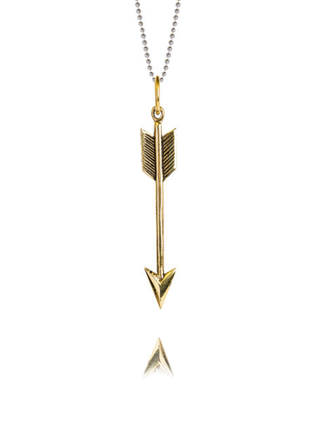Medium Brass Arrow On 80cm Chain