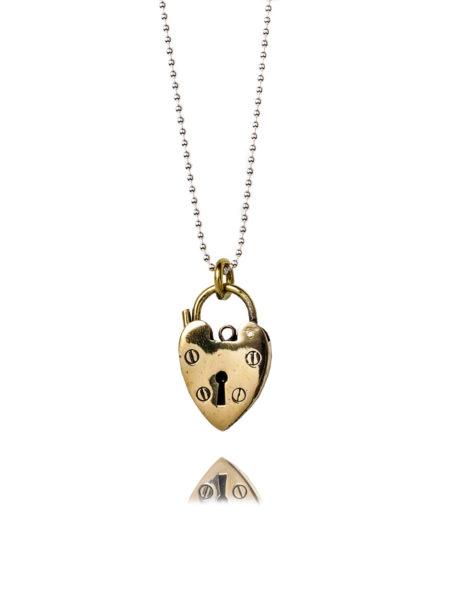 Medium Brass Heat Necklace