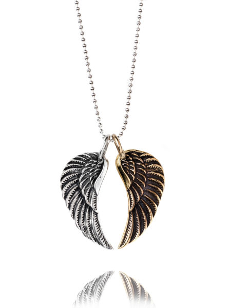 Medium Mixed Wing Necklace