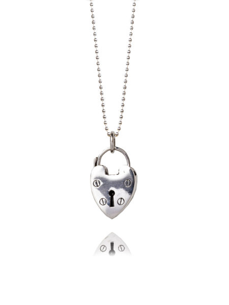 Medium Silver Heart Necklace