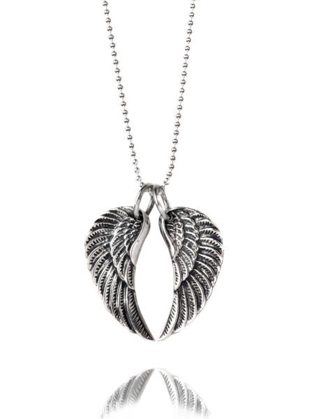 Medium Silver Wing Necklace