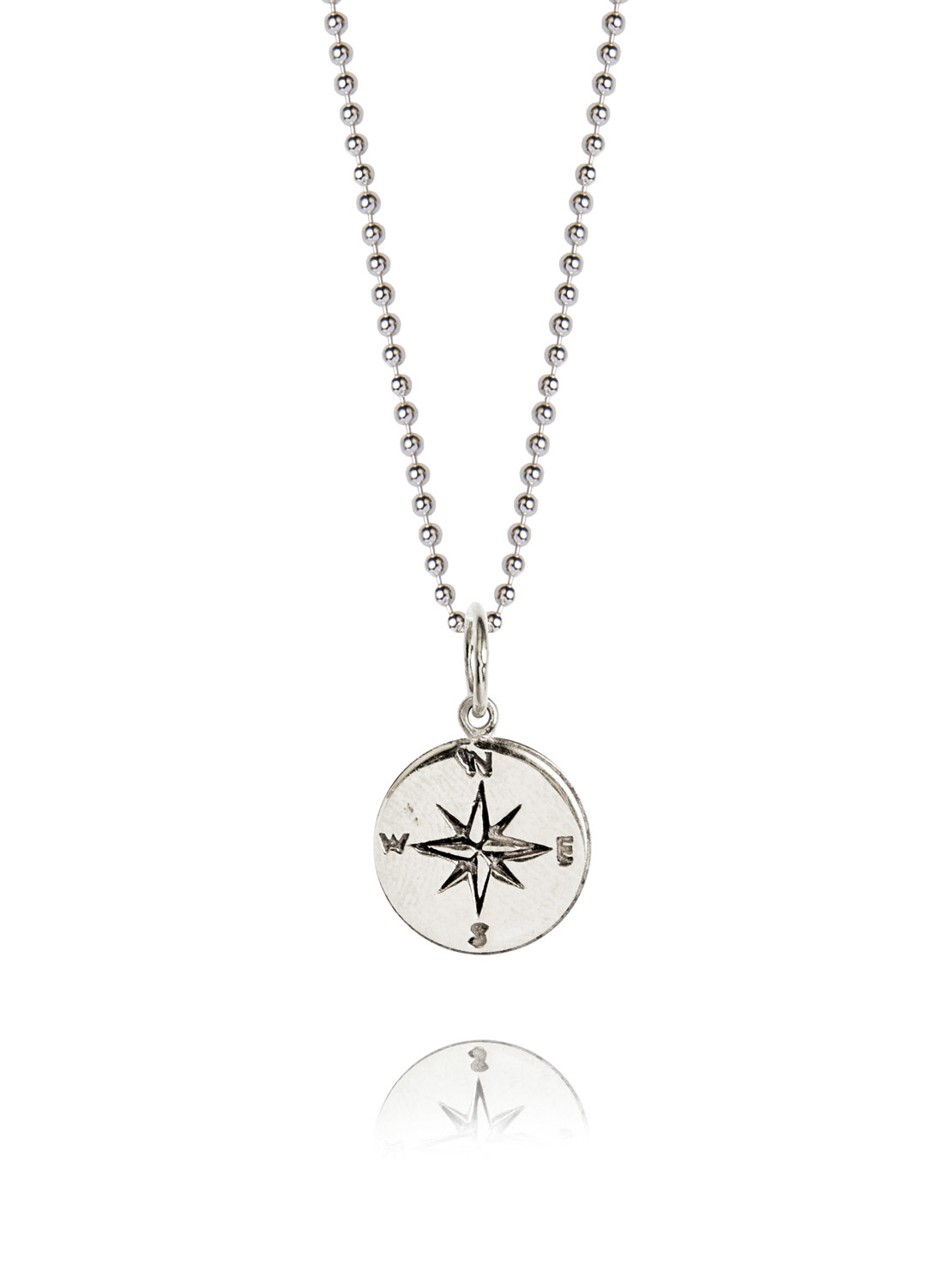 product leeann jewelry compass necklace silver sterling thumbnail herreid