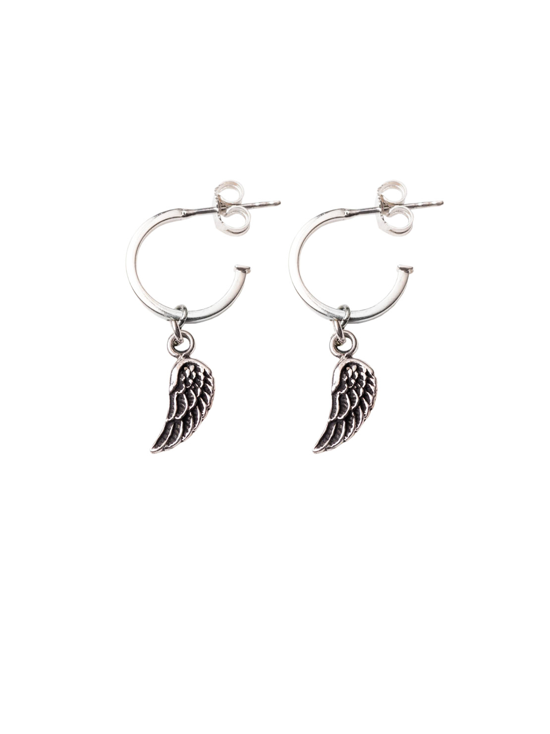 silver s hoop earrings claire lined jewellery crystal