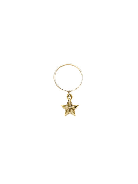 Silver Ring With Brass Star