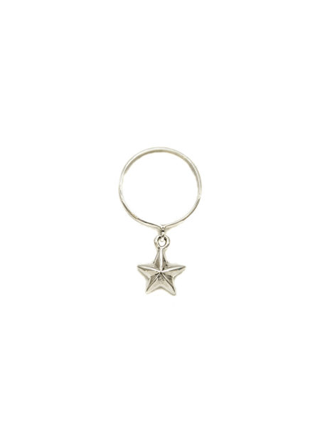 Silver Ring With Silver Star