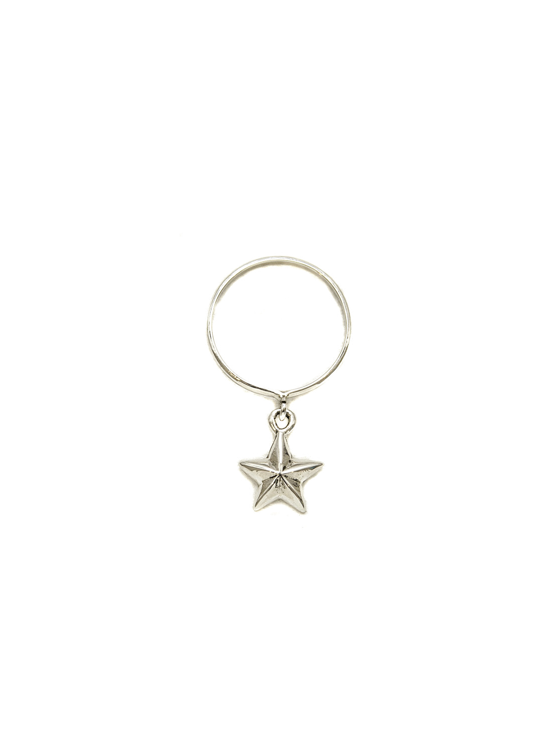 Silver Stack Ring With Silver Star