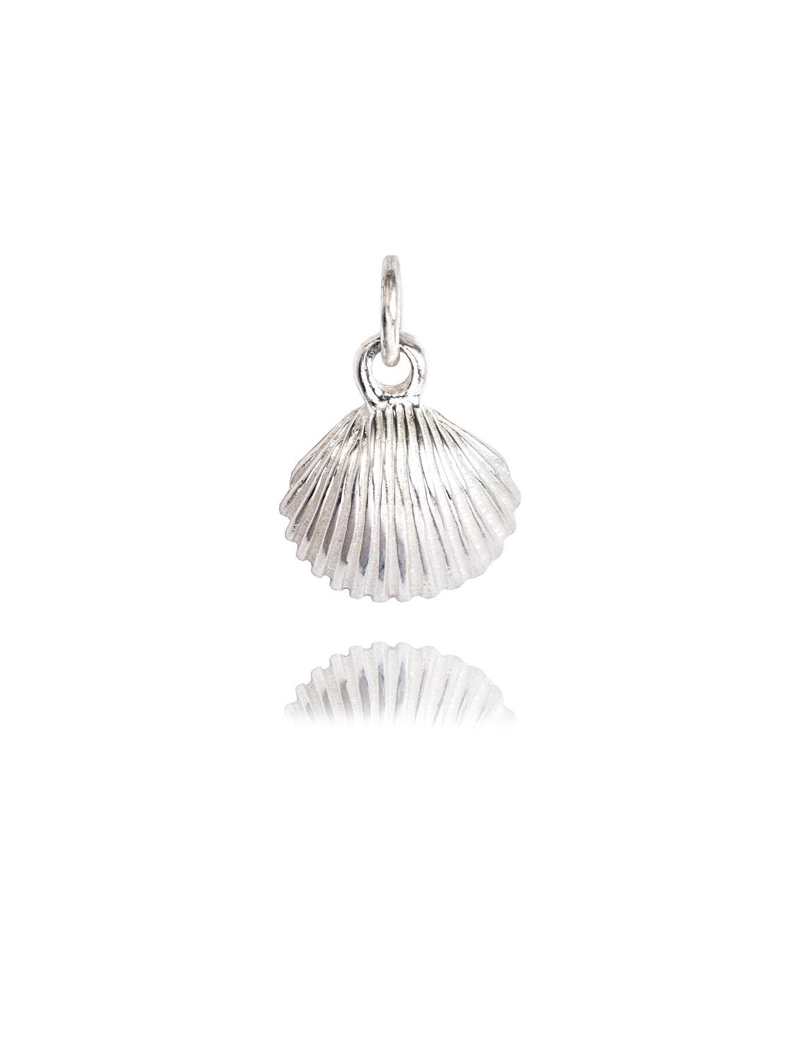 Silver Scallop Charm