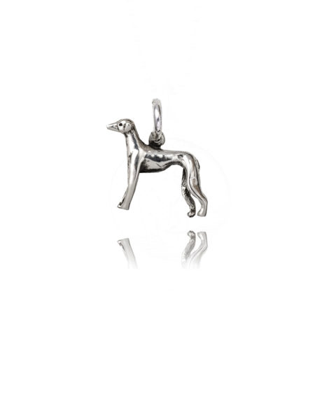 Silver Whippet Charm