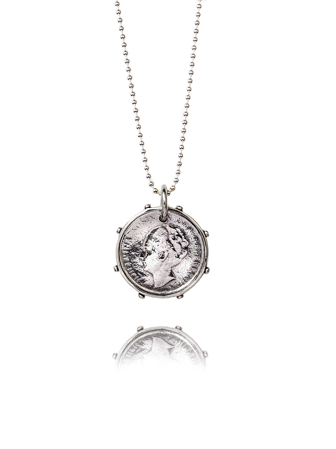 Single Silver Dutch Coin Necklace