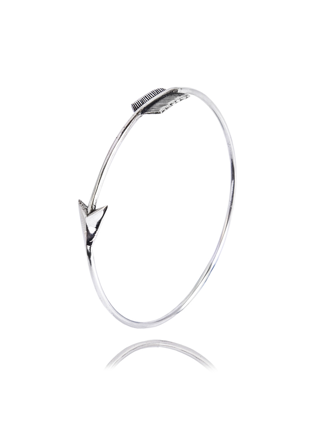 Slim Silver Arrow Bangle
