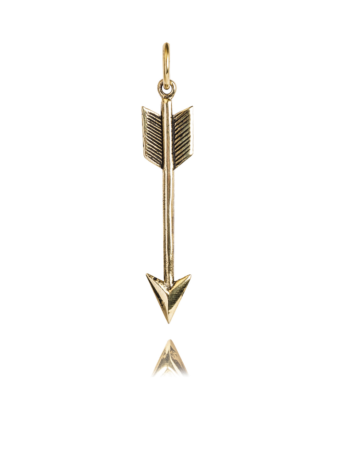 Small Brass Arrow Charm