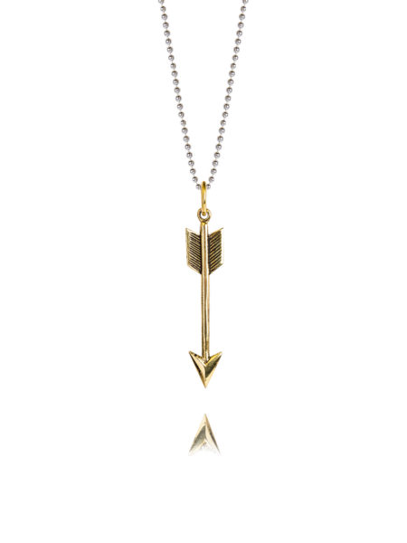 Small Brass Arrow On 60cm Chain