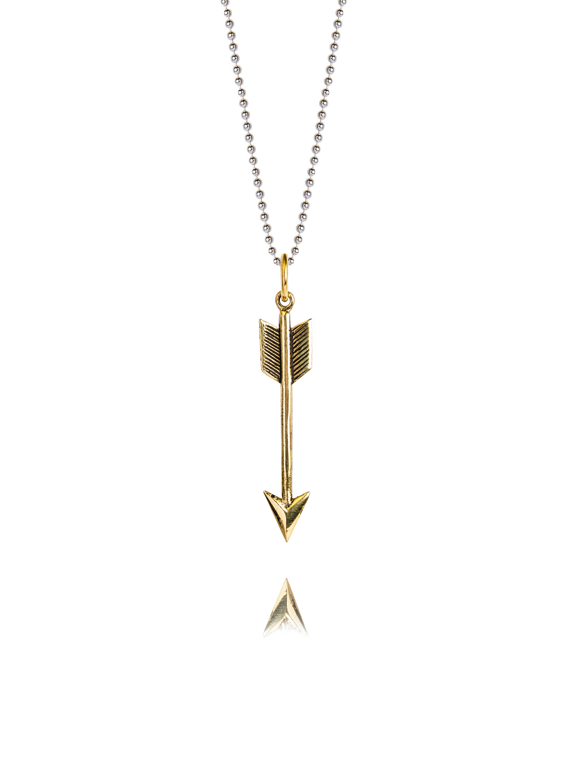 Small Brass Arrow  Necklace