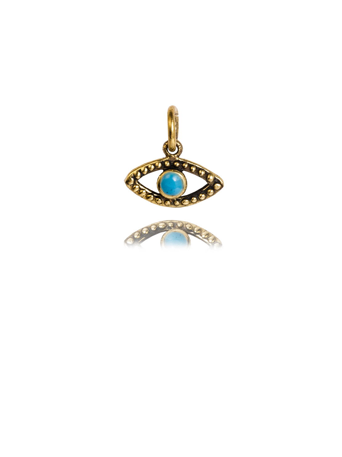 Small Brass Evil Eye Charm