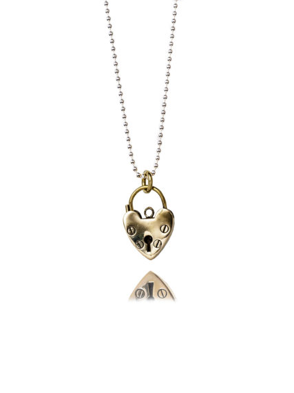 Small Brass Heart Necklace