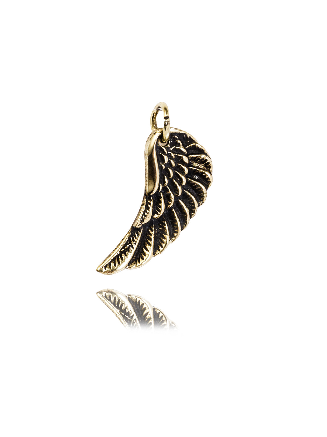 Small Brass Wing Charm